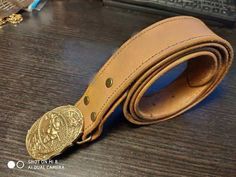 Кожаный ремень своими руками/DIY Leather Belt