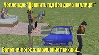 the Sims 2. Challenge. Прожить год без дома на улице и собирать жуков!