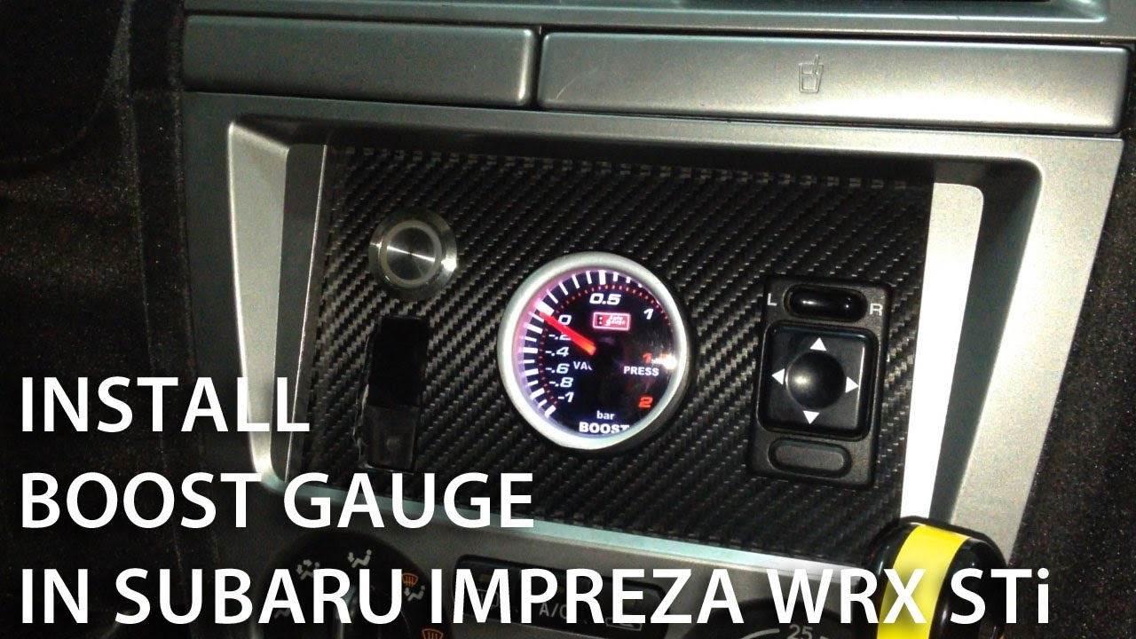 maxresdefault how to install boost gauge in subaru impreza wrx sti (custom spt boost gauge wiring harness at soozxer.org