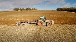 Fendt 724 Vario Tractor and Lemken 7 Furrow Plough