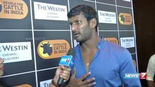 Protest against Actor Vishal at Madurai