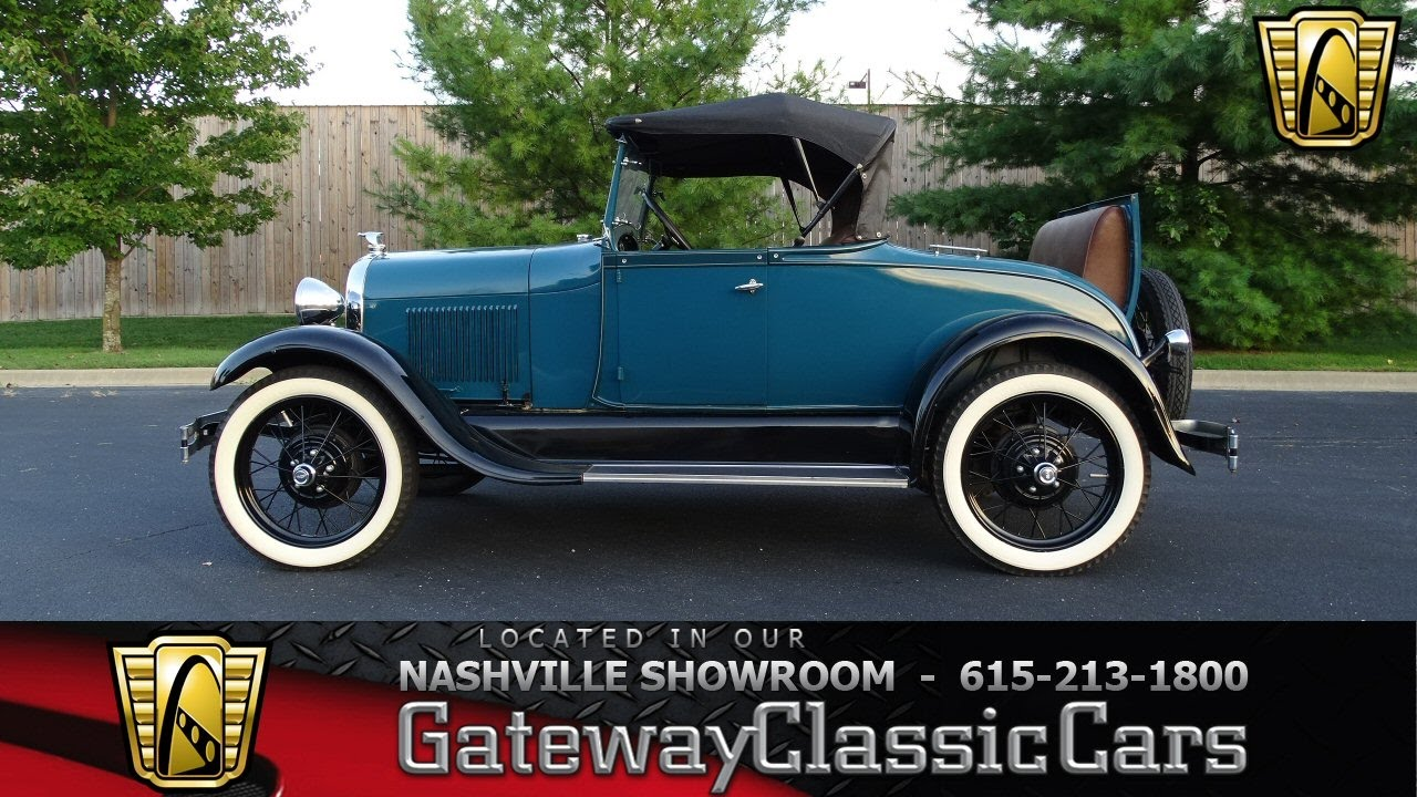 1929 ford model a stock 7032 gateway classic cars st louis showroom youtube. Black Bedroom Furniture Sets. Home Design Ideas