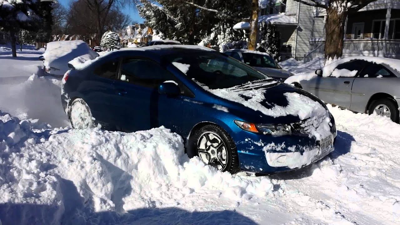 High Quality Civic Si Snow, Magic Of Snow Tires   YouTube