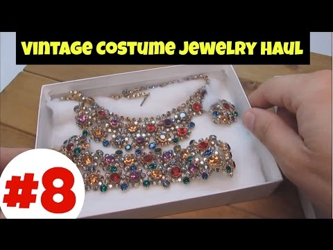 Vintage Costume Jewelry Haul #8  - High End Collection Ep  03