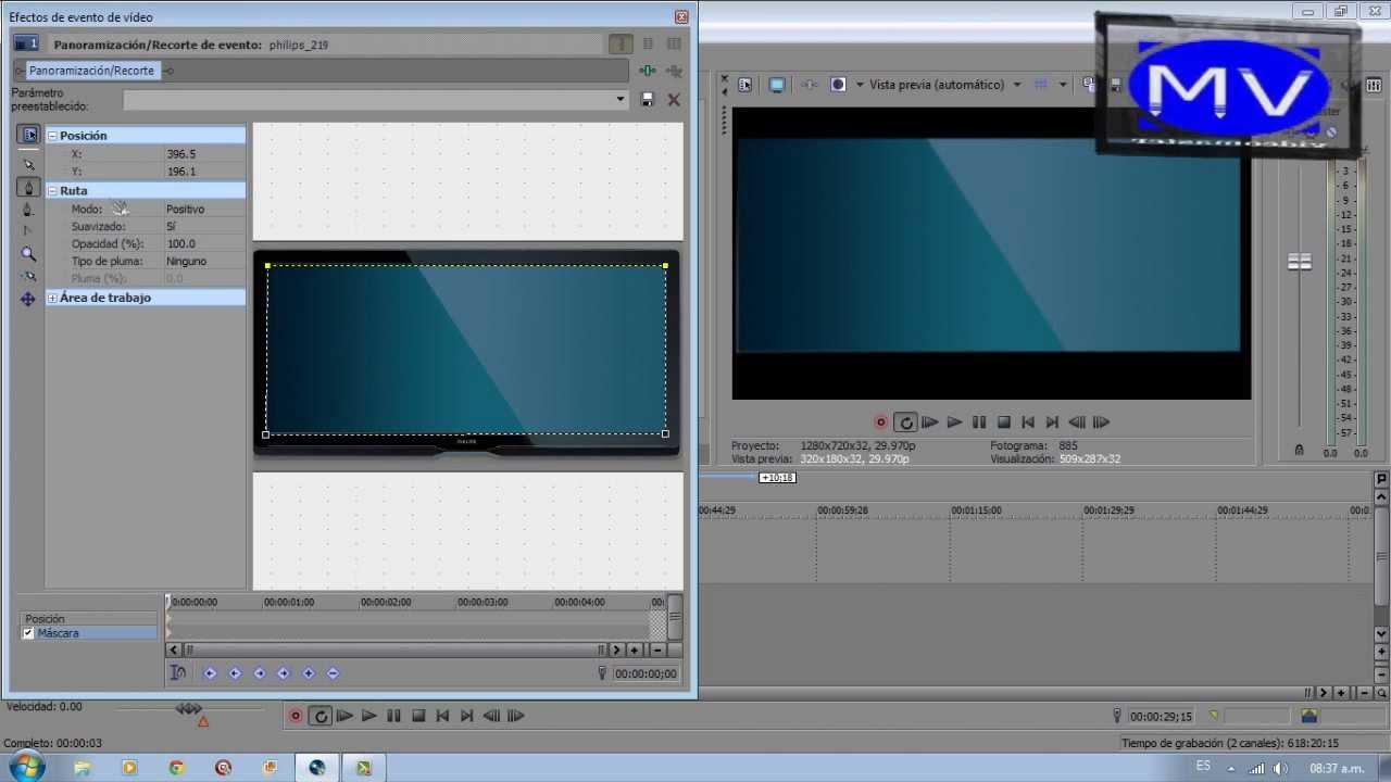 Como poner un vídeo dentro de una tv (sony vegas pro 11
