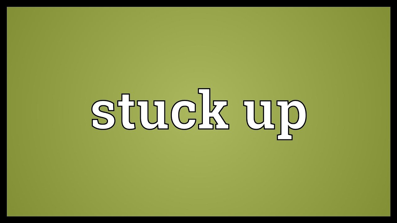 what is the meaning of stuck up