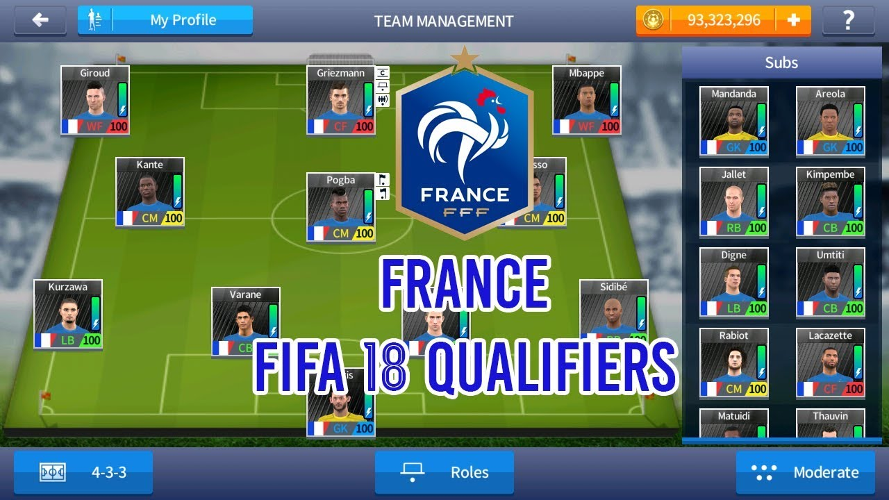 025597b98a6 FRANCE ( FIFA 18 QUALIFIERS ) NATIONAL TEAM 2018 - DREAM LEAGUE SOCCER 2017  SAVE DATA MOD