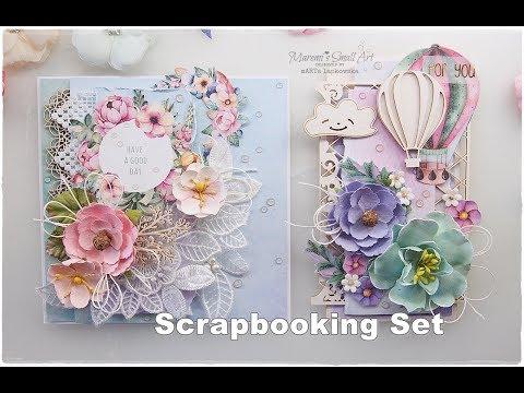 Card & Tag Scrapbooking Set Creating Process ♡ Maremi's Small Art ♡