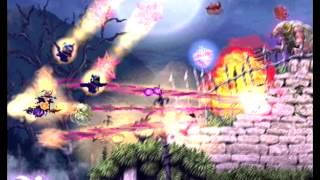 Deathsmiles Megablack Label 1CC easy route demo with Sakura, Cave arcade PCB (2008)