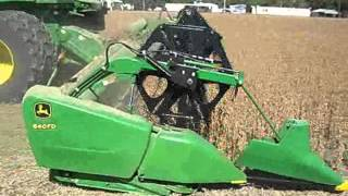 demo of the new john deere 640fd flex draper head
