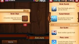 Fruit Ninja Classic 2.3.8 All Blades And Backgrounds