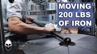 Moving a 200 LB lapping plate...TWICE!