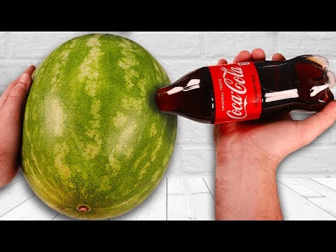 CRAZY Watermelon Coca Cola Tricks!