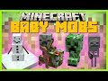 Minecraft - BABY MOBS ( HELP BABY MOBS AT SCHOOL LEARN AND PLAY WITH THEM)