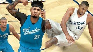 NBA 2k17 MyCAREER - 5x Ankle Breakers!  Monster Posterizer Dunk on Center! Ep. 155