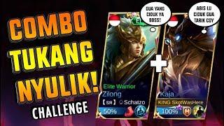 TARIK & CULIK Challange! Combo KAJA & ZILONG SADIS & IMBA Coy!!! - Mobile Legend