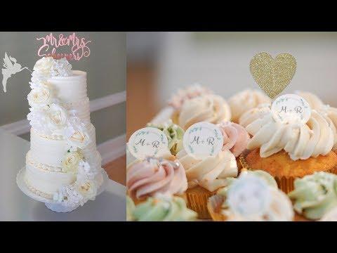 Hochzeitstorten Making Of - 4 Etagen Hochzeitstorte Mit Candytable - Kuchenfee