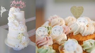Making of 4 tier Wedding cake with candytable - DIY Weddingcake with candybar