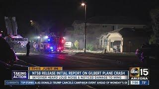 ntsb releases initial report on gilbert plane crash