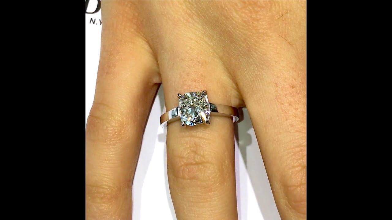 set carat low ring solitaire cushion flat cut watch diamond engagement