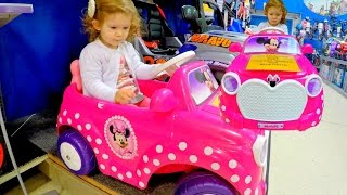 Toys R Us Pink Car  * Wheels On The Bus Song * Video For Kids