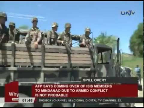 ISIS members coming over to Mindanao, not probable due to armed conflict — AFP