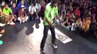 BboyKj  Under Ground Fellaz Crew vs Bboy Enjen Snk Crew  MIGHTY 4 MIDDLE EAST 2010 FOOTWORK