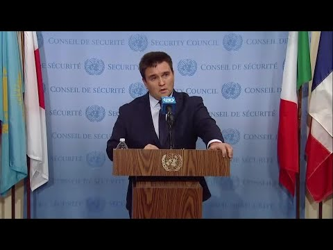 Pavlo Klimkin (Ukraine) on Russia - Security Council Media Stakeout (15 December 2017)