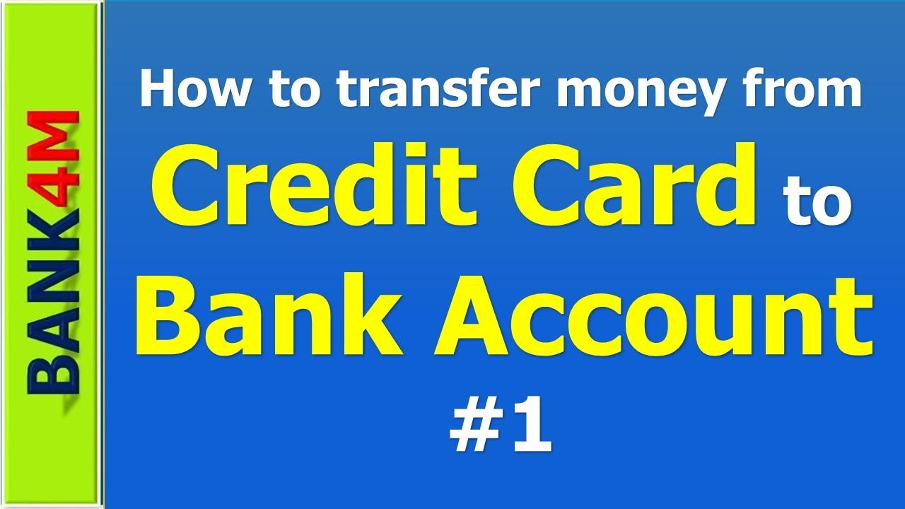 How To Transfer Money From Credit Card Bank Account 100 Free 1