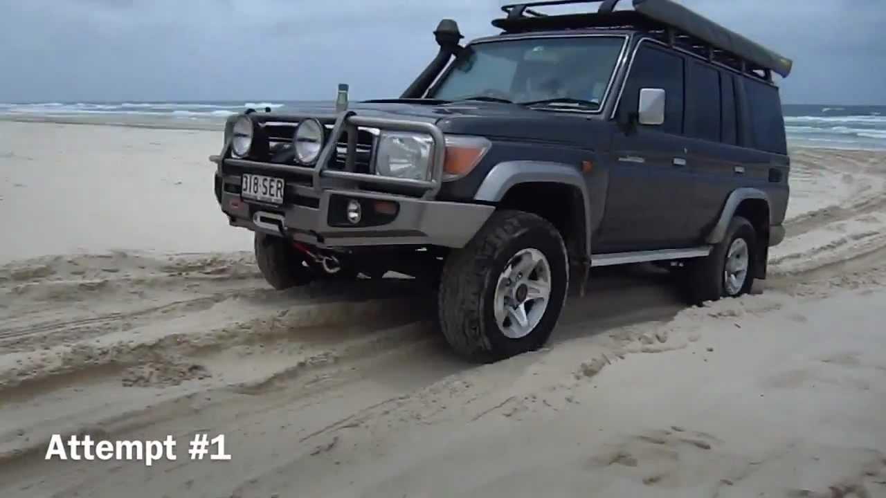 Toyota Landcruiser 76 Series vs. Sand Dune - YouTube