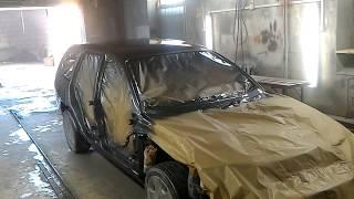 Opel Omega B. Кузовний ремонт. Фарбування автомобіля. Кузов открашен.