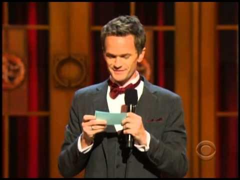 Neil Patrick Harris Playsicals Mashup names at 2013 Tony Awards