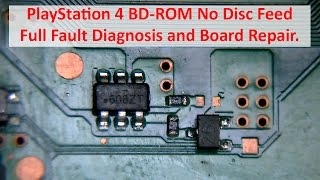 PlayStation 4 BD-ROM No Disc Feed - Full Fault Diagnosis and Board Repair (SAA/SAB-001) - SU-42118-6
