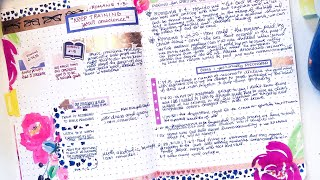 Spiritual Gems in my Bible Bullet Journal | Introduction to Romans Decorate & Setup