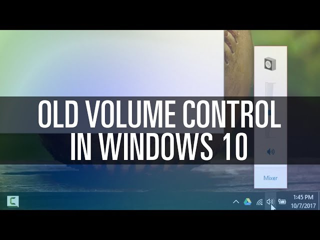 How To Get Old Volume Control in Windows 10 - YoutubeDownload pro