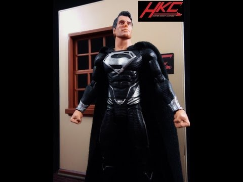 Custom DARK SUPERMAN Man of Steel dream sequence movie masters action figure review by HKC