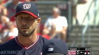 Max Scherzer refuses to come out of the game, a breakdown
