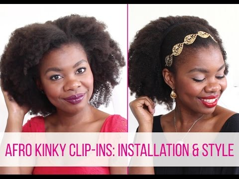 Afro Kinky Clip-ins: Installation & Style on 4C Hair | African Natural Hair Blogger