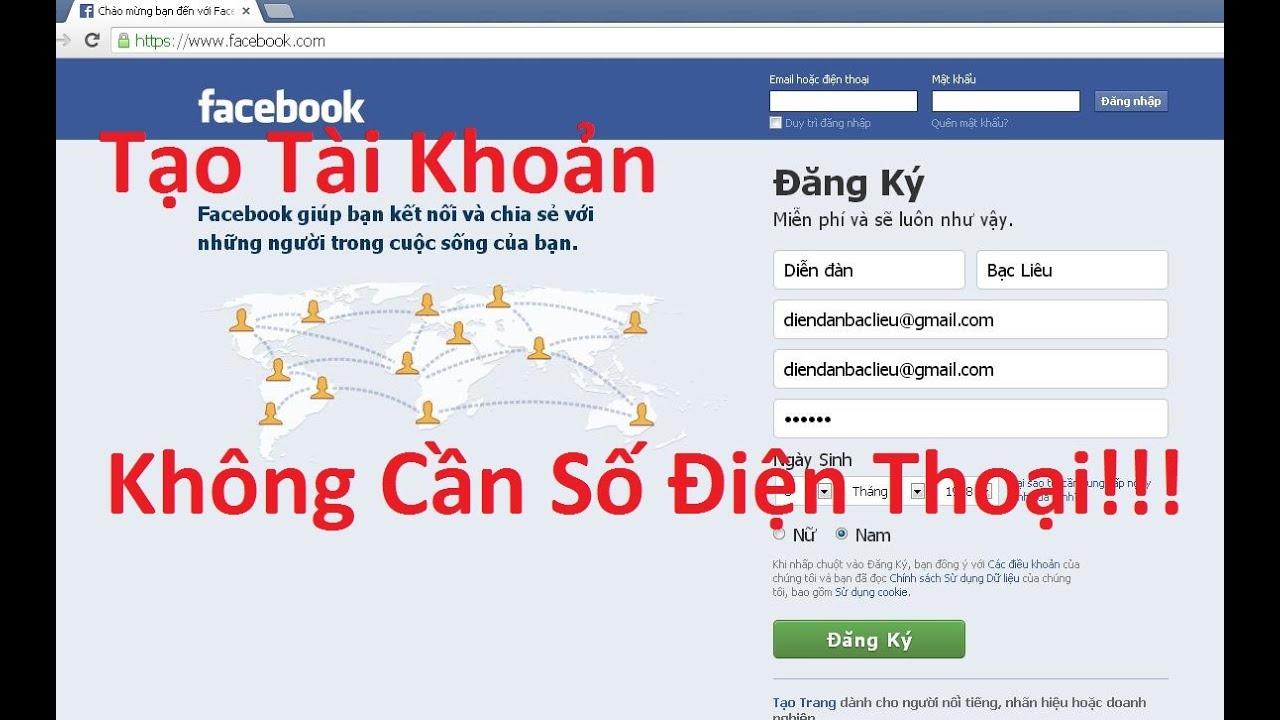 Hướng dẫn tạo tài khoản Facebook không cần số điện thoại - How to create a Facebook account without