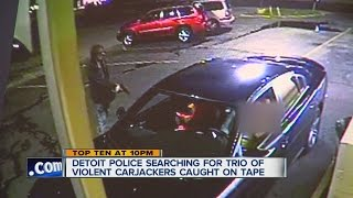Detroit police have released surveillance video in the hopes of finding carjackers