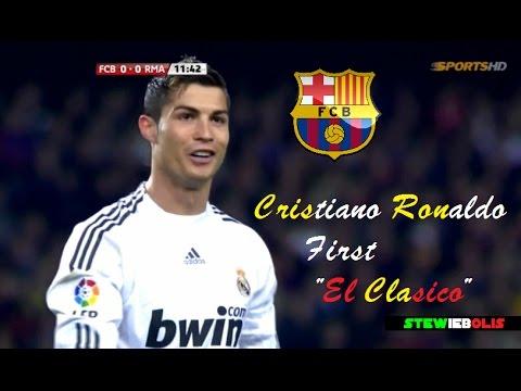 """Cristiano Ronaldo ● First """"El Clasico"""" Debut ● Barcelona Vs Real Madrid ● HD #CristianoRonaldo"""