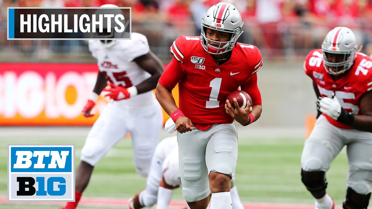 Ohio State football game ball, watch Ryan Day get it for the Florida Atlantic win