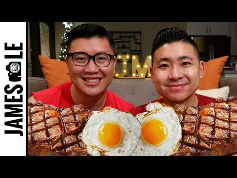 STEAK AND EGGS LOW CARB MUKBANG - SETTING 2018 YOUTUBE GOALS