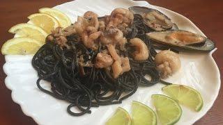 Праздничное блюдо Паста с морепродуктами