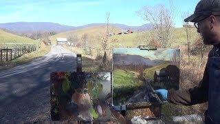 Kyle Buckland Plein Air Oil Painting Demonstration Beginner Lesson #2 Art