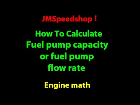 Fuel pump size calculation HOW TO size fuel pump flow rate. 11 ...