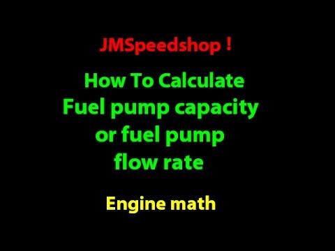 Fuel pump size calculation HOW TO size fuel pump flow rate  11    JMSpeedshop !