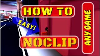 ROBLOX HOW TO NOCLIP HACK IN ANY GAME FAST,EASY (JAILBREAK)