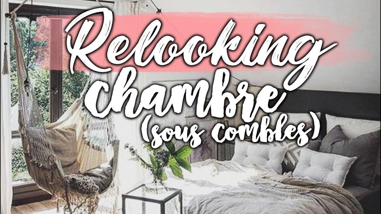 RELOOKING D\'UNE CHAMBRE SOUS LES COMBLES - YouTube