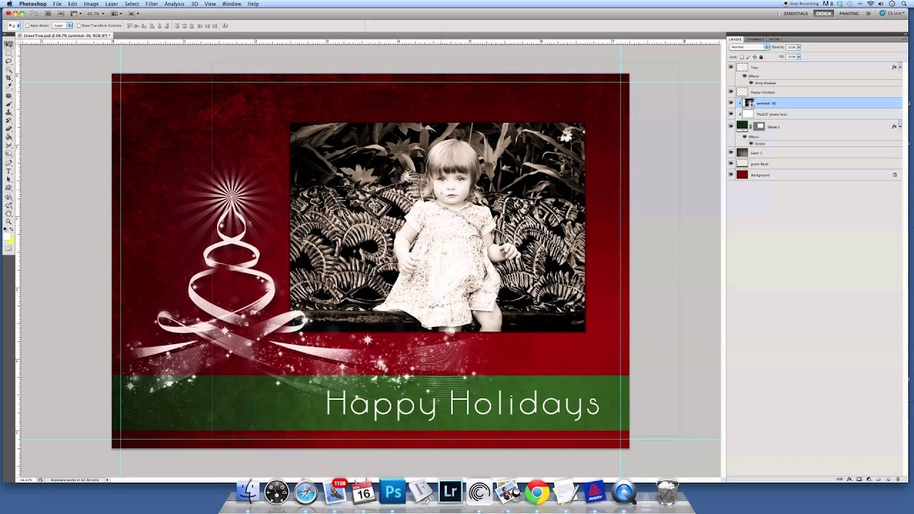 Clipping Masks & Photoshop Templates - How to insert a photo into a ...